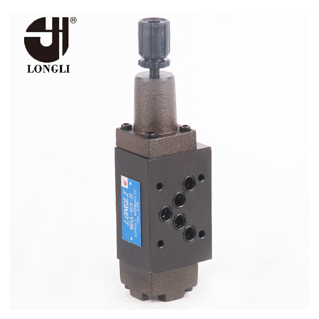 MHA03 Yuken type hydraulic counter balance pressure relief industrial control valve