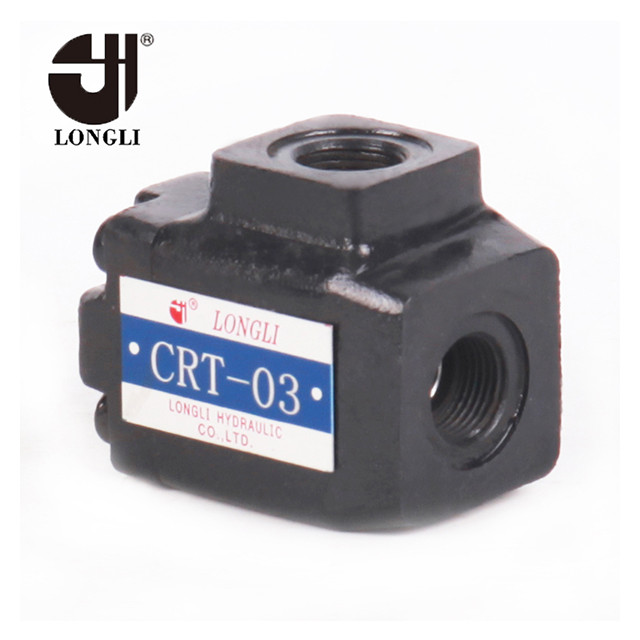 CRT03 hydraulic Yuken type pressure switch pilot operated plate angle check valve